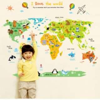 Wallpaper Dunia dengan motif binatang / Animals KHM080