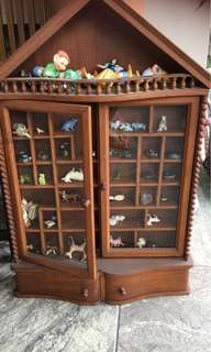 Display Cabinet wooden with small figurines