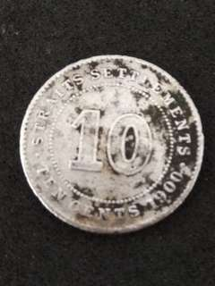 Strait Settlements Coin Year 1900