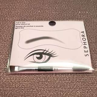 Sephora Fall In Line Brow Stencil Kit