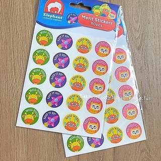 (Instock)80 Teacher Reward Motivational Cute Stickers