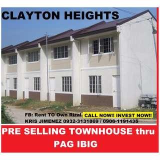 HULUGAN BAHAY THRU PAG IBIG @ Clayton heights San mateo rizal