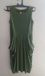 Sale dress kantor warna hijau lumut#horegajian