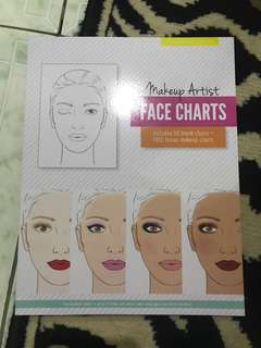 "Repriced!! Brand New ""Makeup Artist"" Face Charts"
