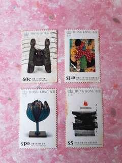 1989年香港現代繪圖及1雕塑紀念郵票