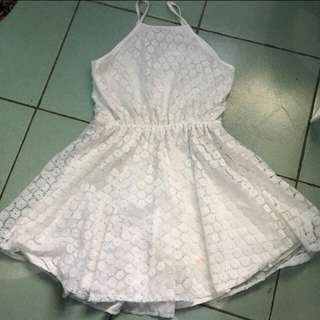 Halter white pretty lacey dress!