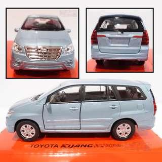 Toyota Kijang Innova biru - Diecast skala 36 Welly Nex Miniatur Mobil