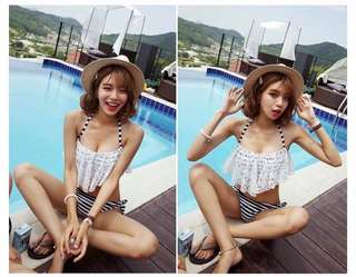 Korean Lace Two Piece Swimsuit