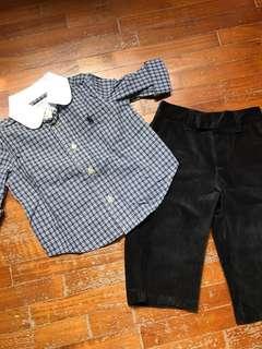 Authentic Polo Ralph Lauren baby set (9mo)