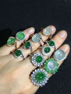 天然A貨玉戒指