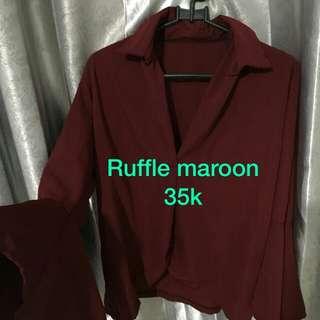 Maroon ruflle