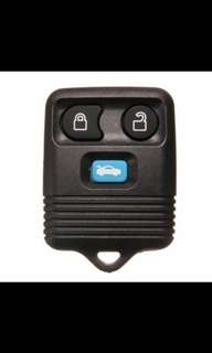 Three Buttons Remote Key Case Shell for Ford Mazda Replacement Black