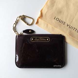Authentic Louis Vuitton Amarante Vernis Key Pouch LV