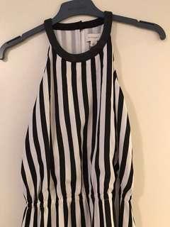 WITCHERY stripe maxi dress.