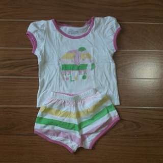 Baby Girl Pambahay Set | 6-12 mos