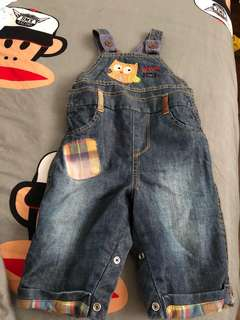 Almost new Mothercare dungaree (0-3m)