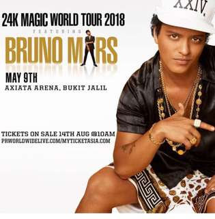 Bruno mars concert ticket for sell