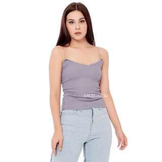 Mila Knit Tank Top in BLUE