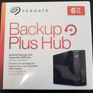 Seagate Backup Plus 6TB External Hard Drive with USB Hub