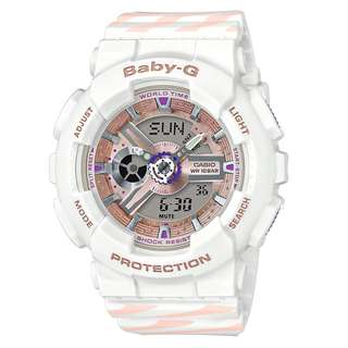 BA-110CH-7A BA-110CH Brand New Casio Baby-G Chance Punto It Quartz 100m Analog 100% Authentic Digital World Time Female Sports Watch w/ Warranty