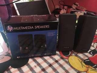 Hp multimedia speaker and creative speaker