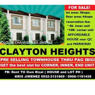 Clayton heights 70k DISCOUNT,AFFORDABLE TOWNHOUSE in san maateo