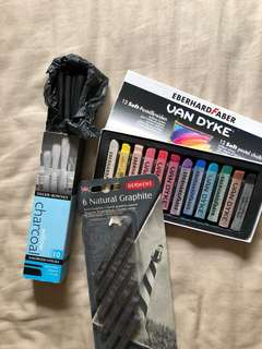 Charcoal, Graphite & Soft Pastel Chalks Bundle