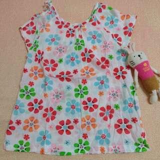 🌸涼爽麻紗洋裝式上衣11號(4~5歲)