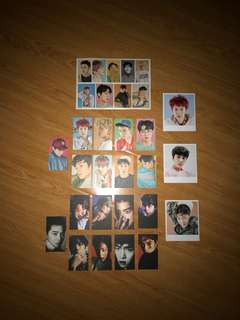 Exo Photocards and Stickers