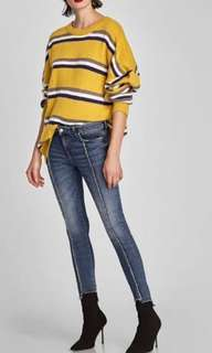 Authentic Zara Skinny Jeans with Frayed Seams