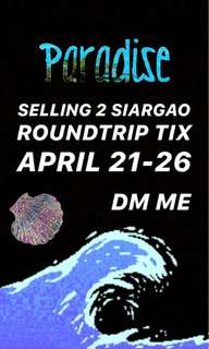 SIARGAO ROUNDTRIP TICKETS