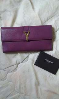 YSL Leather Wallet w Care card