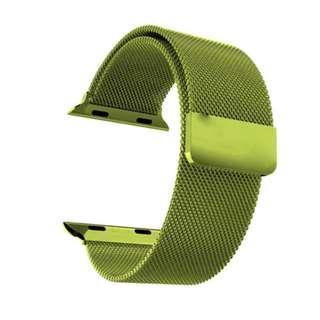 順豐包郵 綠色米蘭磁石錶帶42mm Free SF Express Green Magnetic Stainless Metal Band Strap For Apple Watch 42mm