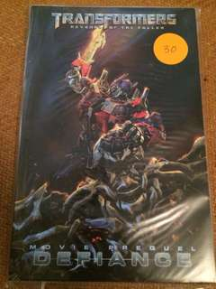 Transformers comic tpb. Revenge of the fallen defiance and alliance