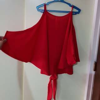 unarosa red blouse