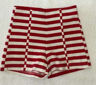 High Waist Stripe Shorts