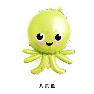 C113 happy birthday party foil balloon octopus sea marine animal