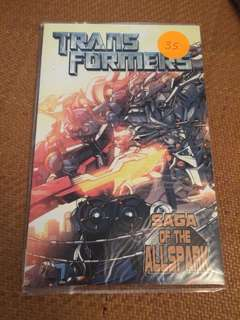 Transformers comic tpb saga if the allspark