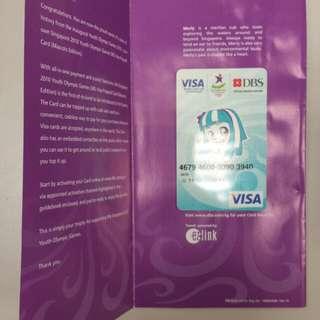 2010 Youth Olympics Prepaid Card