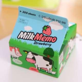 Notepad kertas memo portable unik bentuk kotak susu - KSY072 - Motif A