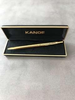 KANOE Vintage Gold Coloured Ballpoint Pen