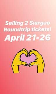 Roundtrip Siargao tickets