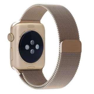 順豐包郵 復古金米蘭磁石錶帶 Free SF Express Old Gold Magnetic Stainless Metal Band Strap For Apple Watch 38/42mm