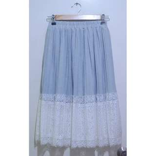 Lacey Sheer Midi Skirt