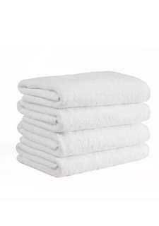 Set Of 4 White Bath Towels