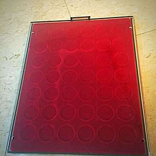 LINDNER German Coin Display Tray Case for 42-Coins, Approx Std A4-Size. Used, Excellent Condition.