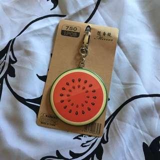 Watermelon Mirror Keychain