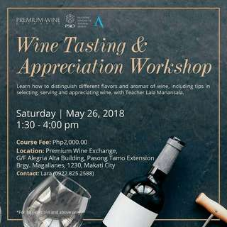 Wine tasting and appreciation workshop