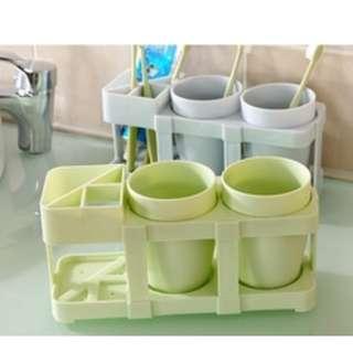 Set gelas Cangkir sikat gigi & cuci kumur / set kamar mandi - HPR148