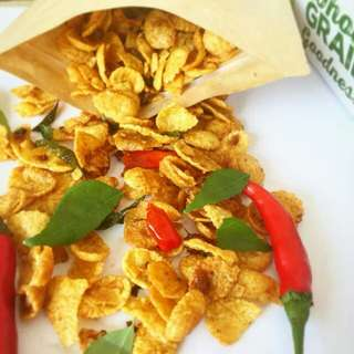Homemade Salted Egg Yolk Cornflakes by #tisoudelight
